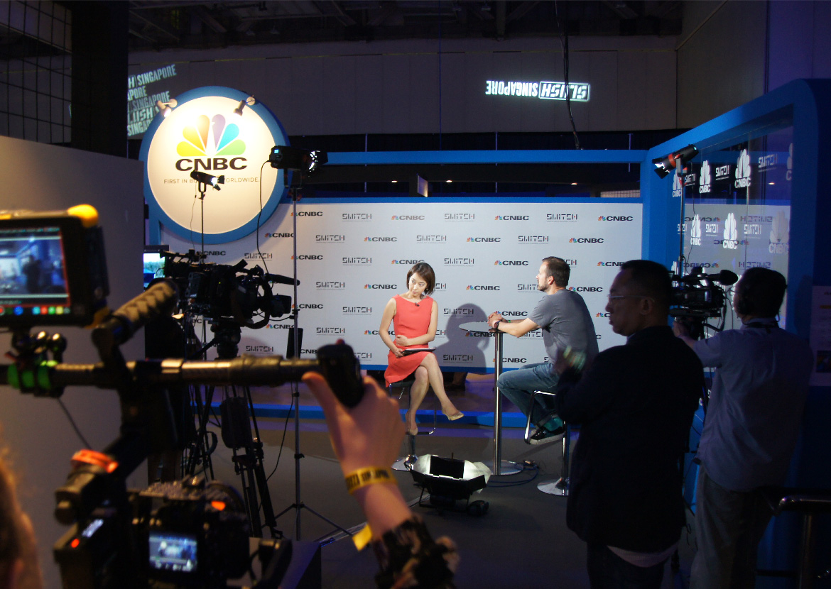 SWITCH 2017 CNBC booth